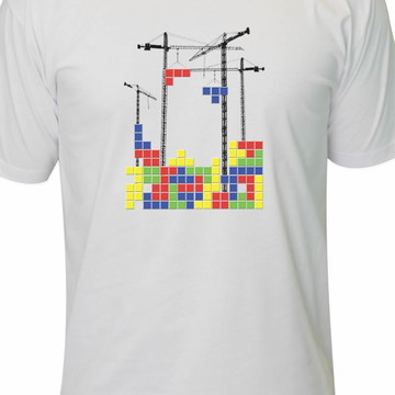 9273c99ac Camiseta Tetrix Retro Game Atari