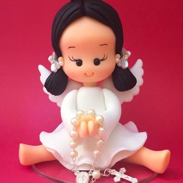 Topo de bolo para batizado anjinha