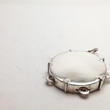 Pingente Pandeiro de prata