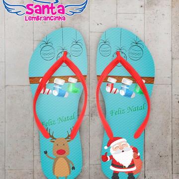 Chinelo Presente de Natal Azul