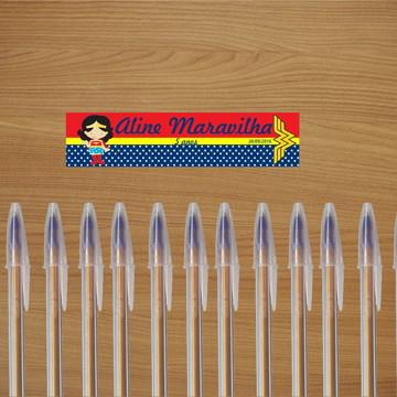 Adesivo para canetas - Mulher Maravilha