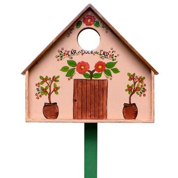 Placa grande para vaso ou jardim - 'Lar, doce lar'