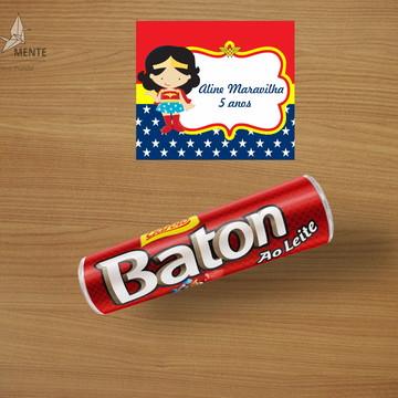 Adesivo para Baton - Mulher Maravilha