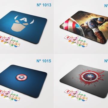 Mouse Pad Capitão América Captain Escudo