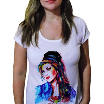 Camiseta Feminina Amy winehouse 8