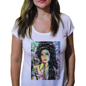Camiseta Feminina Amy winehouse 11