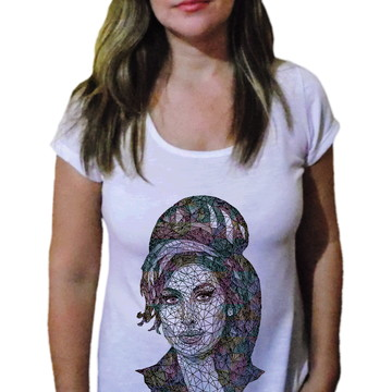 Camiseta Feminina Amy winehouse 14