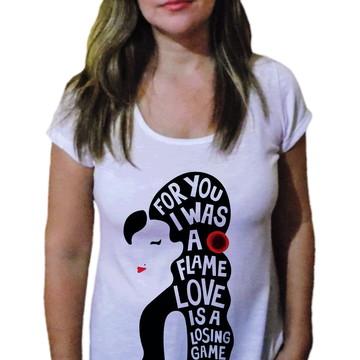 Camiseta Feminina Amy winehouse 15