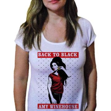 Camiseta Feminina Amy winehouse 20