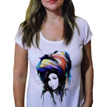 Camiseta Feminina Amy winehouse 25