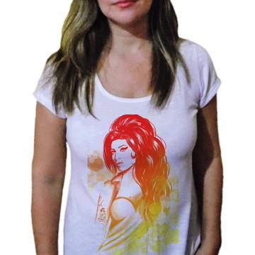 Camiseta Feminina Amy winehouse 28