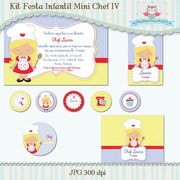 Kit Festa Infantil Mini Chef IV