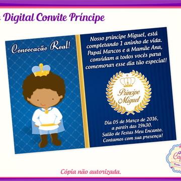 Convite Digital Príncipe