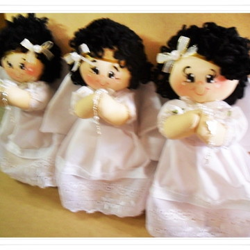 Trio anjos de pano