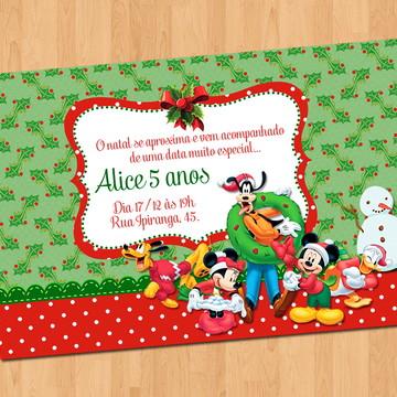 Convite - Natal Turma do Mickey