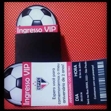 Convite Ingresso VIP