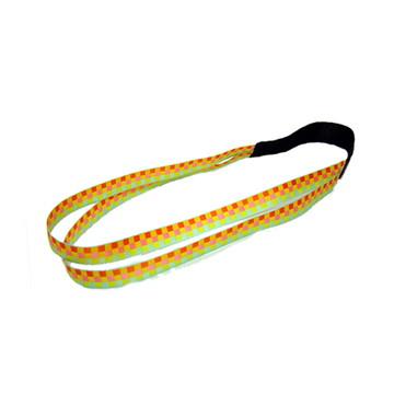 Headband Amarela Quadriculada