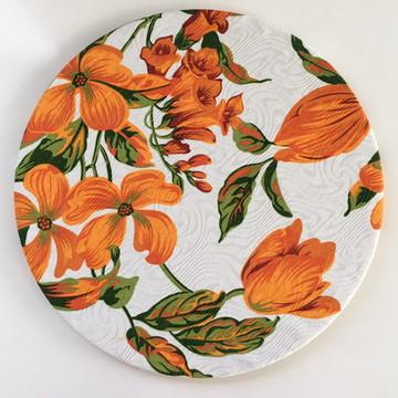 Sousplat Floral Laranja (base + capa)