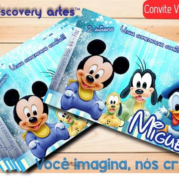 Convite Digital Mickey Baby
