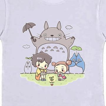 Camiseta Infantil Totoro Anime Mangá