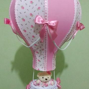 Lustre balão floral personalizado com nome
