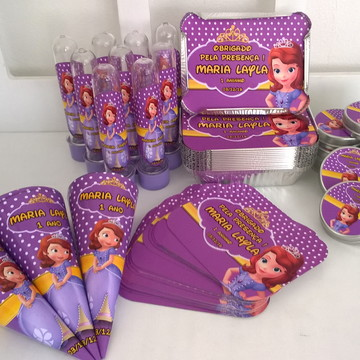 Kit festa Princesa Sofia 80 itens