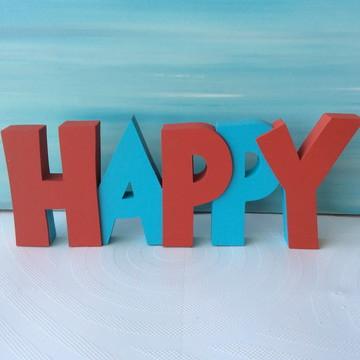 Letras de Mdf - Palavras HAPPY