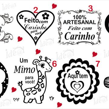 CARIMBO FEITO COM AMOR (Unid)