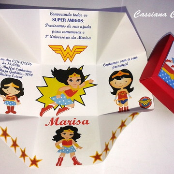 Convite Mulher Maravilha Baby