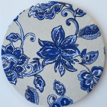 Capa de Sousplat Azul Floral