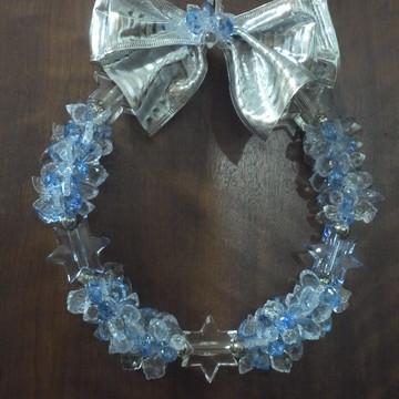 guirlanda de natal estrela azul