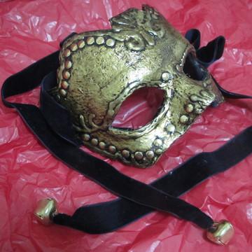 Mascara Veneziana Dourada Envelhecida