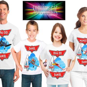 Kit 4 Camisetas Aviões