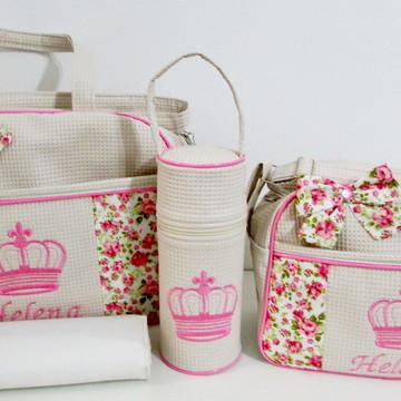 Bolsa e frasqueira com porta mamadeira
