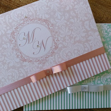 Convites de casamento texturizado
