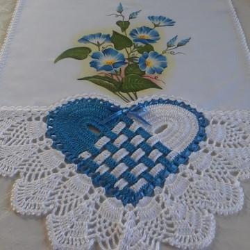 Pano de prato com flores azul.