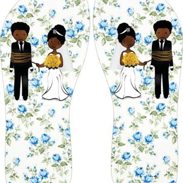 chinelos personalizado de casamento