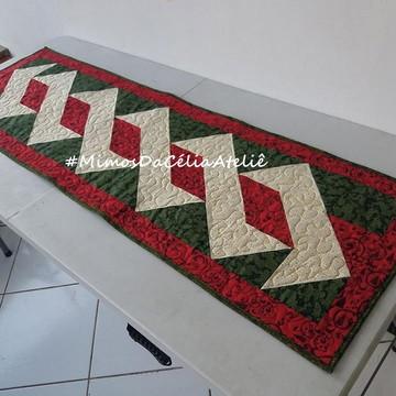 Trilho de mesa em patchwork