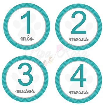 Adesivo - mês a mês / mesversário