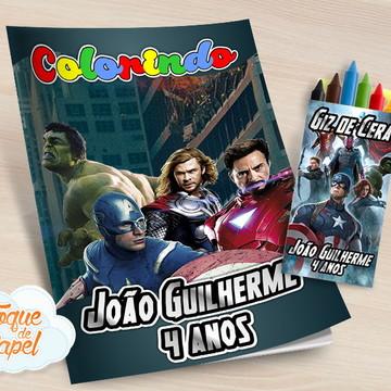 Kit colorir com giz de cera Vingadores