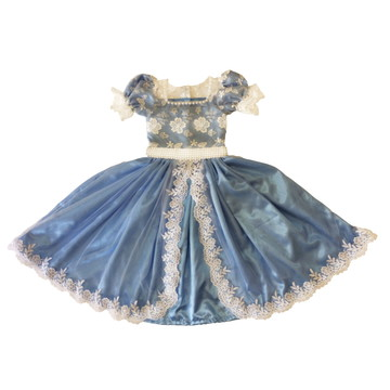 Vestido de com Tule Bordado - Infantil