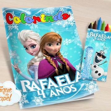 Kit colorir com giz de cera Frozen
