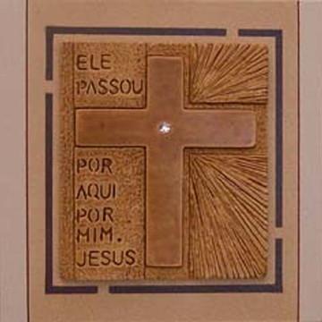 Quadro mensagem cruz