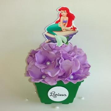 Centro de mesa pequena sereia Ariel