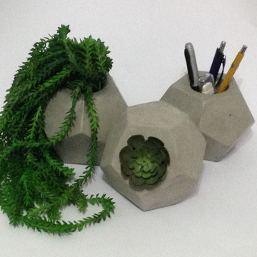 Vaso de cimento geométrico G