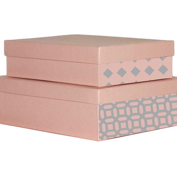Kit Duplo Caixa Organizadora Rosa
