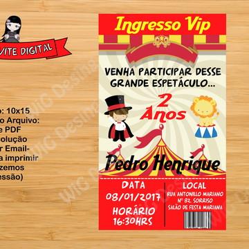 Convite Digital Circo Ingresso