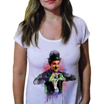 Camiseta Feminina Chaplin 16