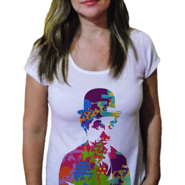 Camiseta Feminina Chaplin 18