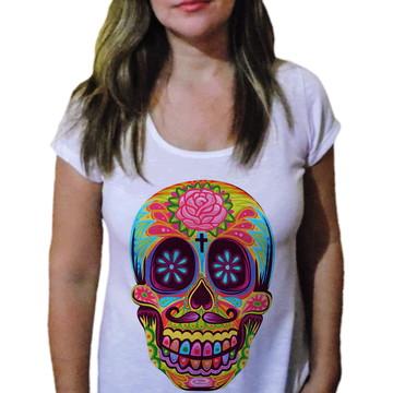 Camiseta Feminina Caveira 2